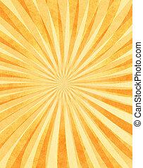 rayons soleil, papier, posé couches