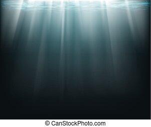 rayons soleil, underwater.