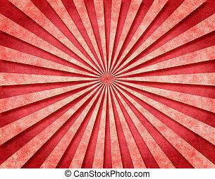 rayos de sol, 3 d, rojo