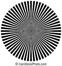 rayos, explosión, starburst, -, vigas, forma, white.