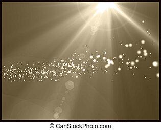 rayos sol, plano de fondo, luz, estrella, amarillo, flare., ...