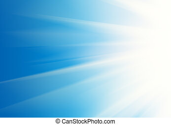 Rays background - Abstract white rays over blue sky...