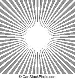 Rays, beams, starburst (sunburst) pattern. Converging lines abstract background.