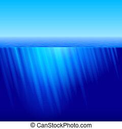 Rays of Sun underwater