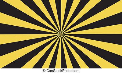 rays pattern animation. vintage retro round striped background.