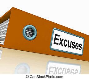 razones, excusas, contiene, scapegoats, archivo