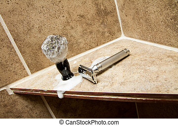 Razor after the shave - Old fasion safety razor and shaving...