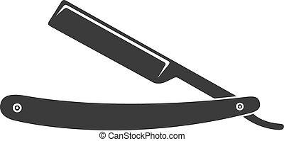 razor barber knife sign - razor barber knife vintage sign...