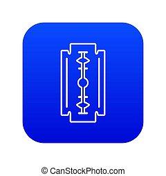Razor blade icon blue
