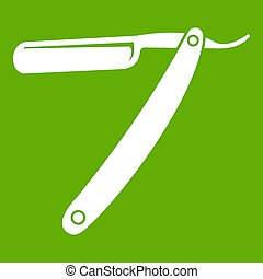 Razor blade icon green