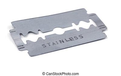 Razor blade - Old razor blade isolated on white