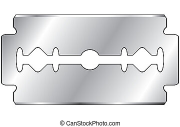 Razor blade on a white background