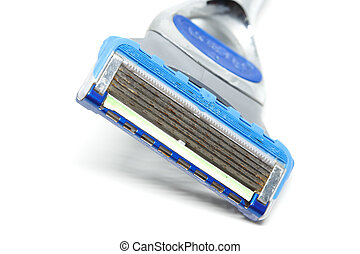 Razor blade on white background