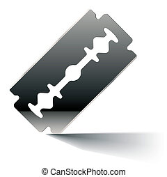 Razor blade - Vector illustration of a razor blade