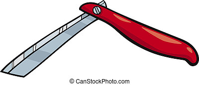 razor clip art cartoon illustration