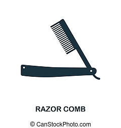 Razor Comb icon. Flat style icon design. UI. Illustration of razor comb icon. Pictogram isolated on white. Ready to use in web design, apps, software, print.