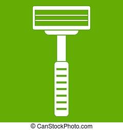 Razor icon green