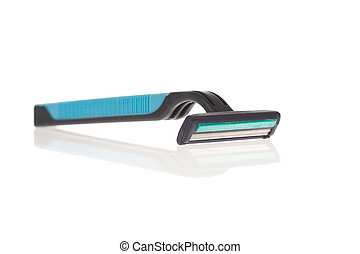 Razor - Macro image of razor over white background