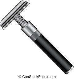 Vintage razor classic look for cosmetic purposes. Vector illustration.