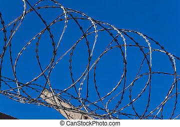 Razor Wire Closeup