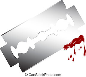 Razor with dripping blood