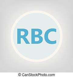 RBC (Red Blood Cell acronym- vector illustration