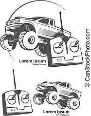 RC car logo - remote control car, shop concept, monster...