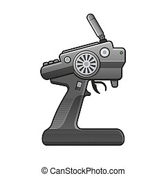 RC Car Radio Control Icon on white background. vector