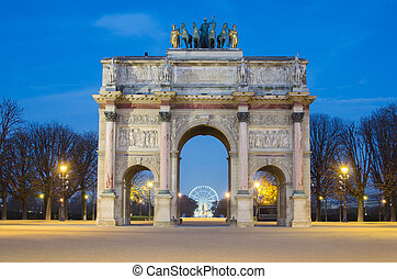 rc de Triomphe du Carrousel (Paris) - Paris (France). Arc de...