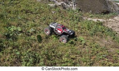 R/C model car racing. Toys with remote control. Sweden
