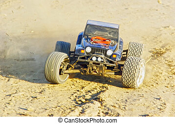 RC monster truck - Radio controlled monster truck on the...