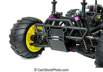RC radio control Car Monster Truck - Close up of a toy RC ...