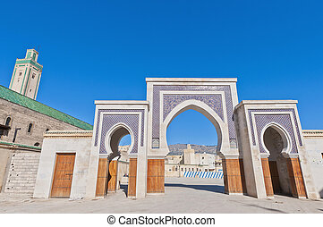 Rcif gate at Fez, Morocco - Rcif Gate located at Fez,...