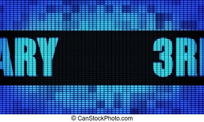 rd Anniversary Front Text Scrolling LED Wall Pannel Display...