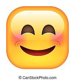 reír, emoticon., feliz, sonrisa