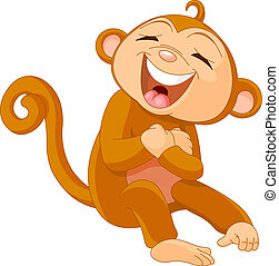 reír, mono