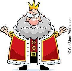 re, arrabbiato, cartone animato
