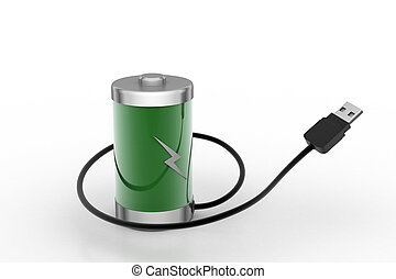 Re chargeable battery with cord wire