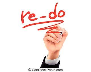re-do written by 3d hand