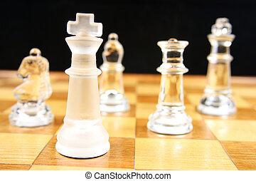 re, gioco, -, fuoco, scacchi