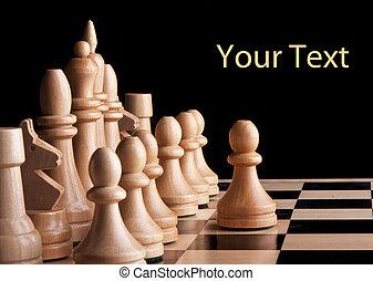 re, gioco, strategia, asse, scacchi