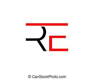 re, iniziale, disegno, lettera, logotipo