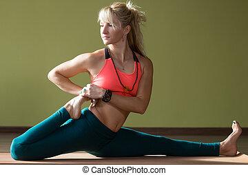 re, piccione, posa yoga, one-legged