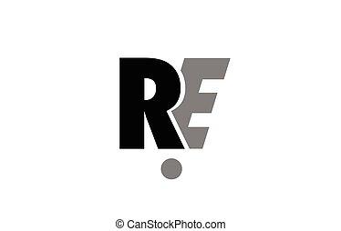 Ri R I Black White Grey Alphabet Letter Logo Icon Combination