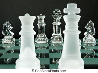 re, regina, scacchi, cavalieri