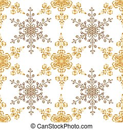 Reach christmas seamless background with hand-drawn...
