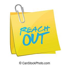 reach out post message illustration design