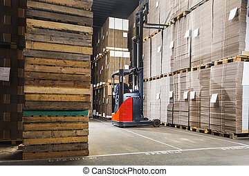 forklift lifting a pallet