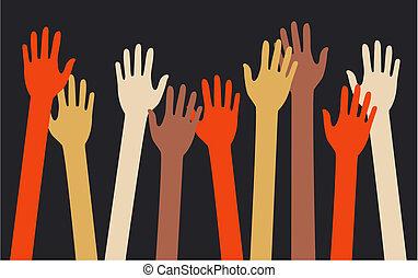 reaching arms