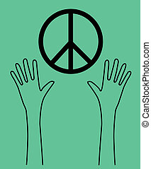 reaching arms peace symbol